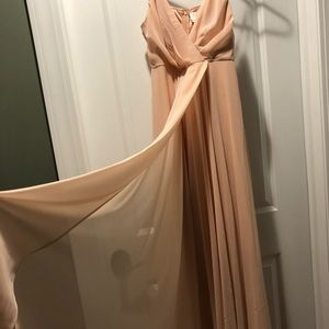 BHLDN bridesmaid dress- Eva in blush pink